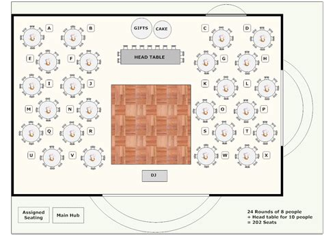 wedding reception layout for mc banquet plan space layout use this software to lay out