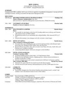 Image result for top mba resume examples