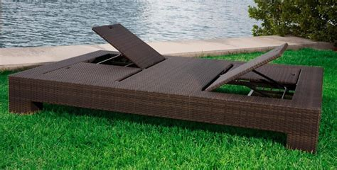 double outdoor chaise lounge source outdoor king wicker double chaise lounge wicker com