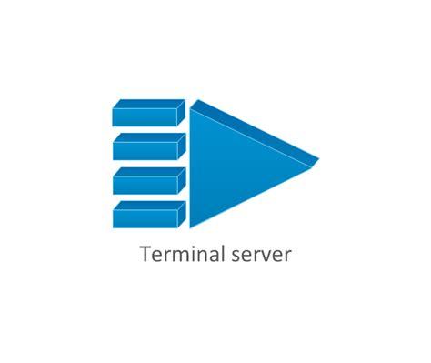 terminal server communication network diagram computer network vector