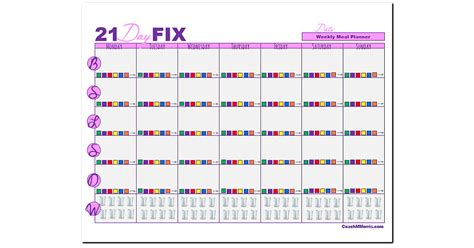 printable meal planner 21 day fix free weekly meal planner template memes
