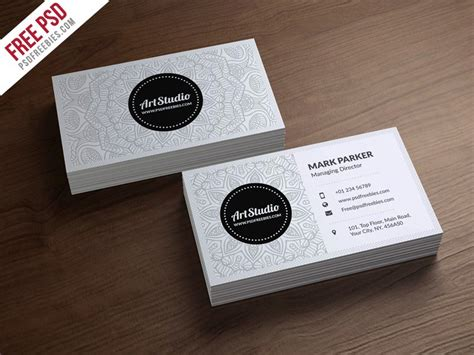white business card template 100 free business cards psd 187 the best of free business cards