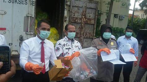 polisi amankan  kg limbah medis  tersimpan