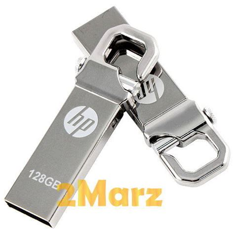 hp v250w 128gb 128g usb flash drive storage memory stick hook clip lock metal ebay