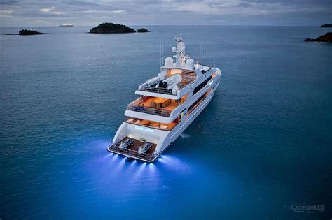 yacht underwater led lights underwater led lighting for superyachts oceanled