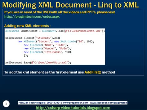 tutorial linq to xml sql server net and c video tutorial part 4 modifying