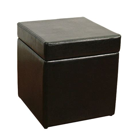 black leather ottoman with storage faux black leather box ottoman with storage space dcg stores