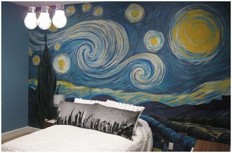 starry night bedroom starry night mural decor pinterest