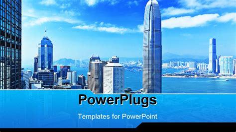 hong kong powerpoint template background of travel