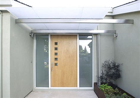Small Exterior Door Modern Front Door With Small Square Windows Decoist