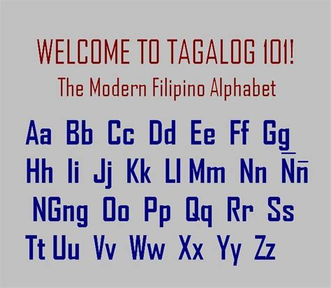 Or In Tagalog History Of Tagalog Language And The Modern Alphabet