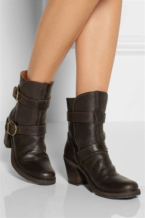 fiorentini baker nena leather boots in brown lyst