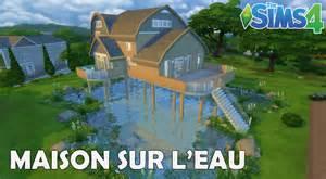 les sims 4 maison sur l eau construction speed build