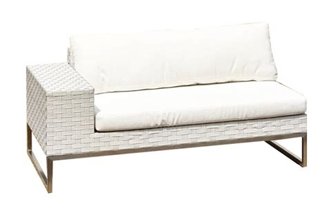 white wicker sofa white wicker 2 seat sofa right arm outdoor party hire wa