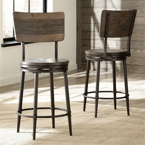 Distressed Wood Counter Stools by Wood Swivel Counter Height Stool In Distressed