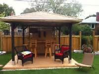 Gazebo Tiki Bar Decks Gazebos Tiki Bars Fences Tub Canopies