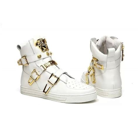 versace 2016 high white shoes gh047