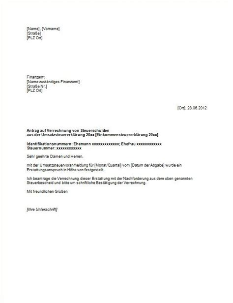 Muster F 252 R Eine Abl 246 Severeinbarung Antrag Ratenzahlung Finanzamt Muster Antrag Auf Verrechnung Steuernachzahlung Vorlagen Und