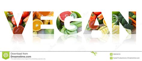 l word vegetables vegan word of fruits and vegetables background stock