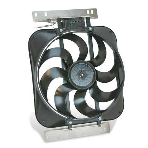 flex a lite electric fan flex a lite automotive direct fit black magic s blade