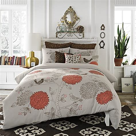 bed bath and beyond twin comforters buy anthology sparrow twin twin xl comforter and sham set