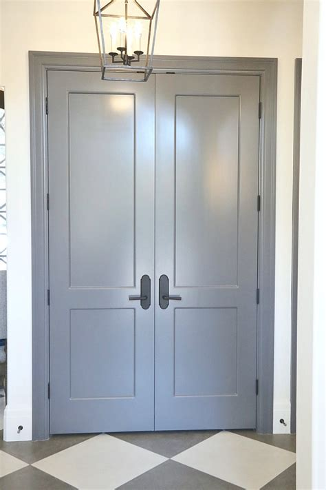 Gray Interior Doors Choosing Interior Door Styles And Paint Colors Trends