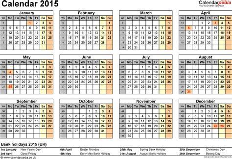 Calendar 2015 (UK)   16 free printable Word templates