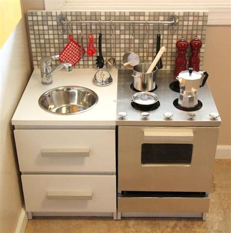 homemade play kitchen ideas 25 ideas recycling furniture for diy kids play kitchen designs