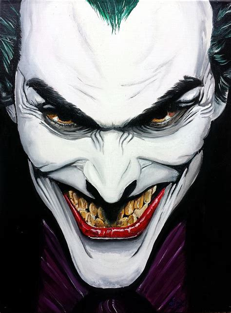 joker painting the joker a tribute to alex ross painting by s g williams