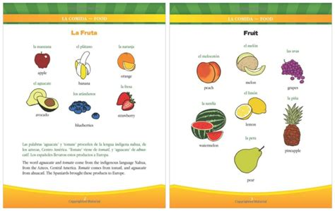libro learn spanish words my 1st bilingual book food a giveaway babushka s baile