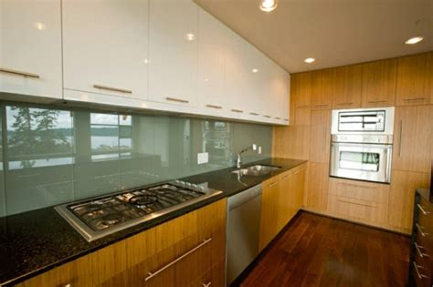 kitchen glass wall kitchen rear wall from glass the modern tile mirror