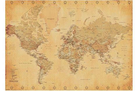 vintage world map blogs vintage world map poster