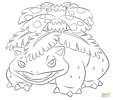 pokemon coloring pages venusaur venusaur coloring page free printable coloring pages