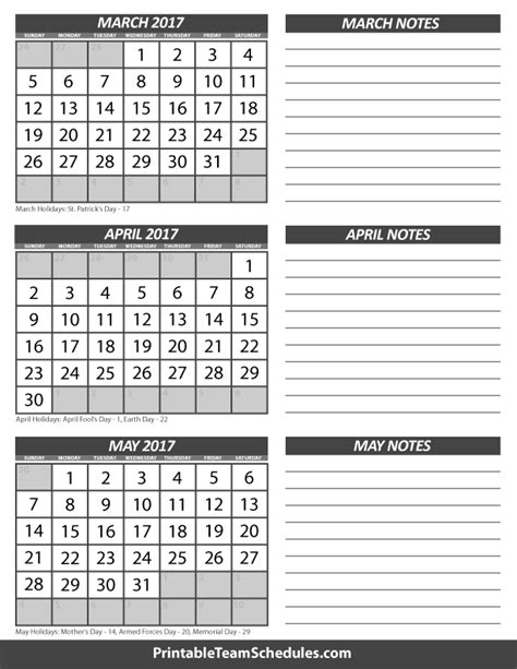 printable 3 month calendar march april may 2016 march april may calendar 2017
