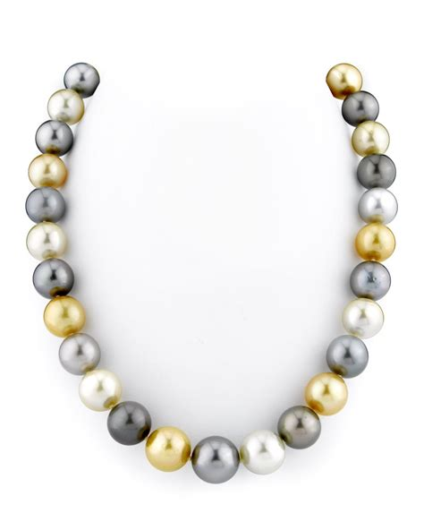 pearl jewelry 11 14mm tahitian golden south sea pearl necklace