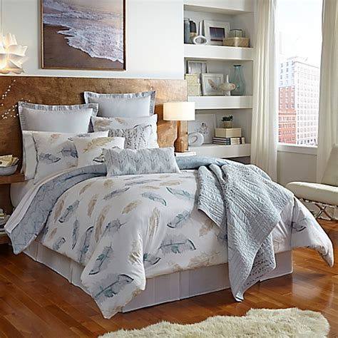 feather comforter bed bath and beyond shell rummel feathers reversible comforter set in sand