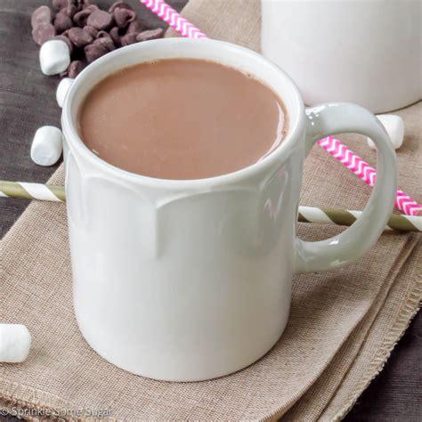 frozen hot chocolate vs chocolate milk homemade hot chocolate sprinkle some sugar