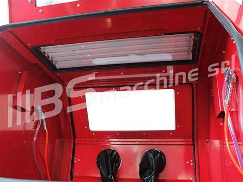 cabina di sabbiatura usata sabbiatrice professionale sogi s 218 con aspiratore