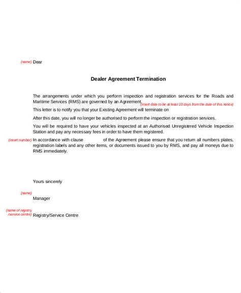 termination letter template nsw 36 exles of termination letters