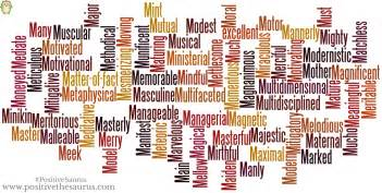 Adjectives that start with m positive thesaurus positive words for