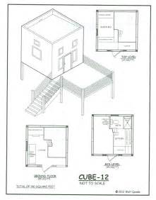Cube House Plans by Small Homes Small Home Oregon
