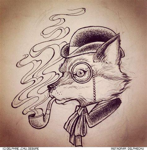 tattoo flash fox illustration c delphine quot chu quot debuire http instagram