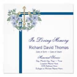 mans navy blue cross in loving memory memorial 5 25x5 25