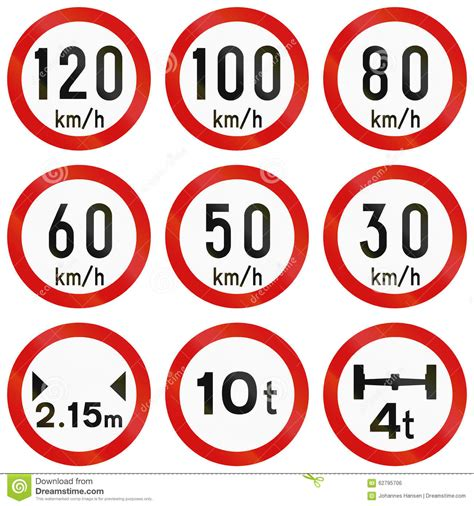 printable irish road signs regulatory road signs in ireland stock illustration