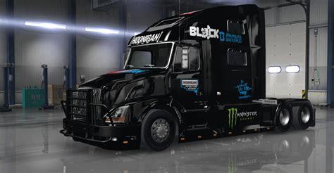 hoonigan truck hoonigan racing divison livery skin for volvo vnl 780