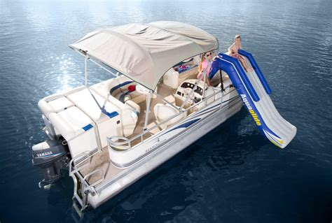 inflatable pontoon boat slide aquaglide pontoon slide