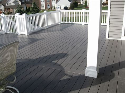 london grey pvc deck   patio deck colors dark