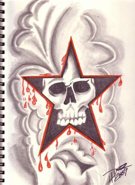 skull tattoo flash by dohie on deviantart