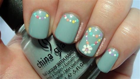 easy nail art st simple flower chain nail art nail art gallery