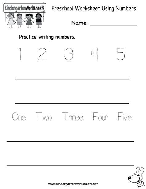 free printable preschool kindergarten worksheets coloring pages preschool worksheet using numbers free